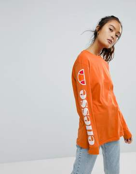 Ellesse Long Sleeve T-Shirt With Sleeve Print