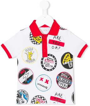 Little Marc Jacobs badge print polo shirt