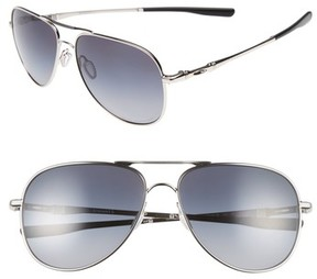 Oakley Men's Elmont 61Mm Polarized Aviator Sunglasses - Silver