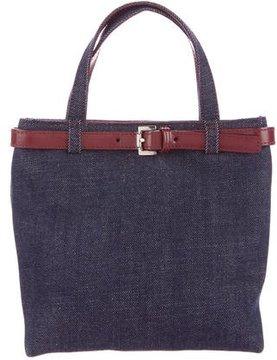 Burberry Denim Handle Bag - BLUE - STYLE