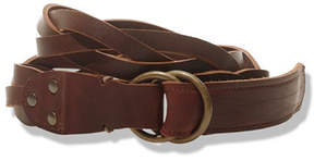L.L. Bean Signature Men's O-Ring Braided Leather Belt