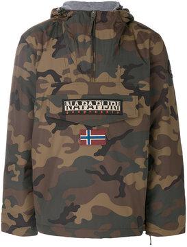 Napapijri patched printed hoodie