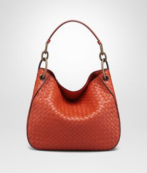 Bottega Veneta Terracotta Intrecciato Nappa Small Loop Bag