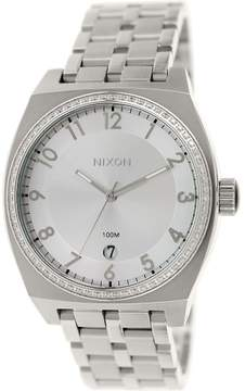 Nixon Women's Monopoly A3251874 Silver Stainless-Steel Plated Japanese Quartz Fashion Watch
