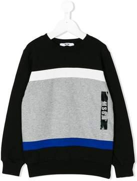 MSGM geometric logo print sweatshirt