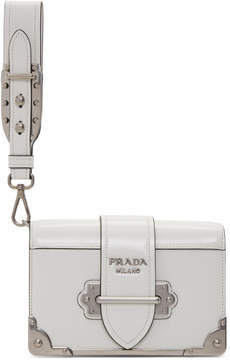 Prada White Cahier Clutch