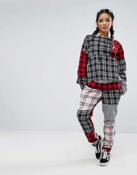Jaded London Tracksuit Bottoms In Patchwork Check Co-Ord