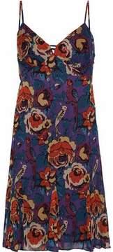Anna Sui Floral-Print Crepe De Chine Dress