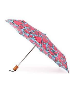 Anna Coroneo Watermelon-Print Umbrella, Pink