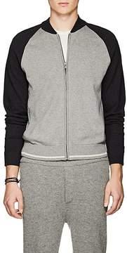 James Perse Men's Colorblocked Cotton-Blend Zip-Front Sweater