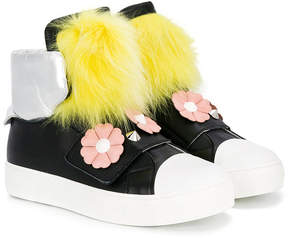Fendi flower detail hi-tops