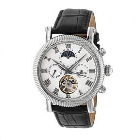 Heritor Winston Mens Black Strap Watch-Herhr5201
