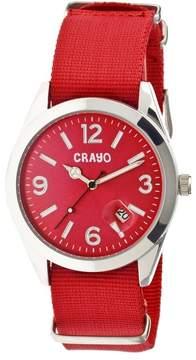 Crayo Sunrise Red Dial Red NATO Nylon Ladies Watch