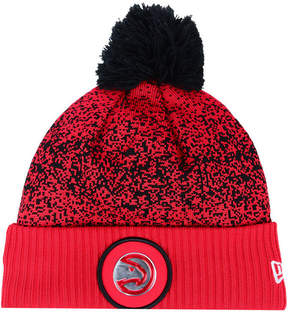 New Era Atlanta Hawks On-Court Collection Pom Knit Hat
