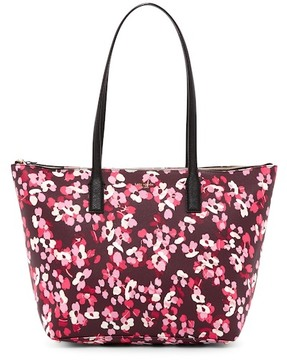 Kate Spade Nyssa Leather Trimmed Tote - DEEPCHERRY - STYLE