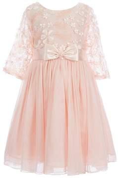 Bonnie Jean Little Girls 4-6X Sequin Flower Bonaz Dress