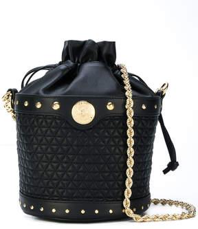 Balmain quilted bucket shoulder bag