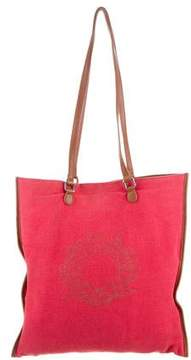 Sonia Rykiel Leather-Trimmed Jacquard Tote