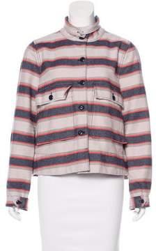 The Great Striped Denim Jacket