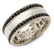 Effy Black Sapphire & Sterling Silver Band Ring