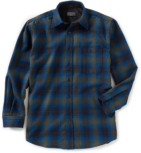Pendleton Trail Plaid Ombre Long-Sleeve Woven Shirt