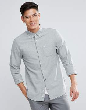 Jack Wills Wadsworth Regular Fit Brushed Oxford Shirt In Gray Marl
