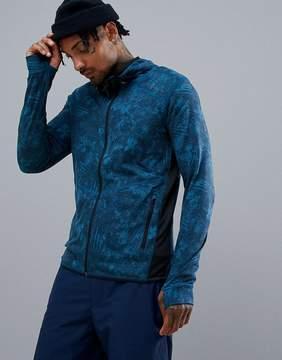 O'Neill Activewear Easy Full Zip Hoodie Hyperdry in Blue Print