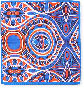 Bugatchi Geometric Silk Pocket Square