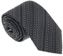 Missoni U5059 Gray/black Chevron 100% Silk Tie.