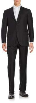 Hart Schaffner Marx Two-Button Grey Wool Suit
