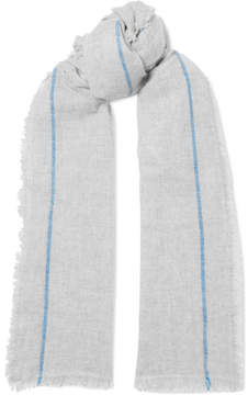 Isabel Marant Vala Striped Cashmere Scarf - Gray