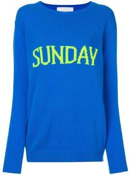 Alberta Ferretti Sunday intarsia jumper