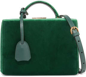 Mark Cross Grace Small Velvet Shoulder Bag - Emerald
