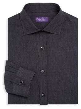 Ralph Lauren Purple Label Dot Print Dress Shirt