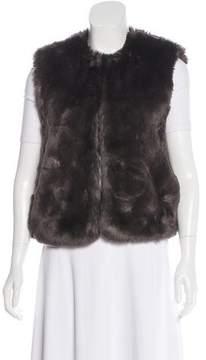 Barneys New York Barney's New York Faux Fur Knit Vest