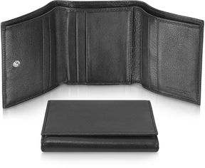 Giorgio Fedon 1919 Classica - Women's Black Calfskin Small Trifold Wallet