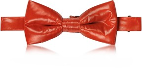 Forzieri Red Nylon Puffer Bow Tie