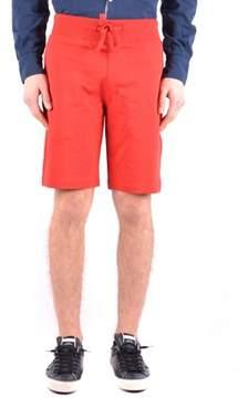Aeronautica Militare Men's Red Cotton Shorts.