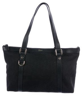 Gucci GG Canvas Abbey Tote - BLACK - STYLE