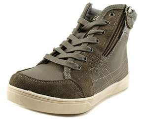 Kenneth Cole Reaction Think Fast Youth Round Toe Synthetic Gray Sneakers.