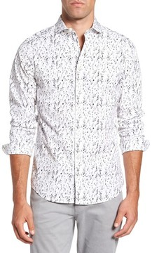 Gant Men's Slim Fit Crushed Ice Print Sport Shirt