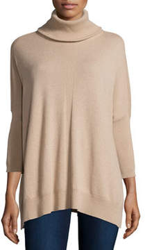 Josie Natori Cashmere Dolman-Sleeve Turtleneck Sweater