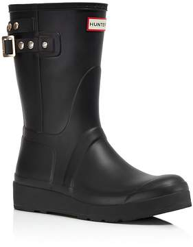 Hunter Short Wedge Rain Boots with Studded Straps