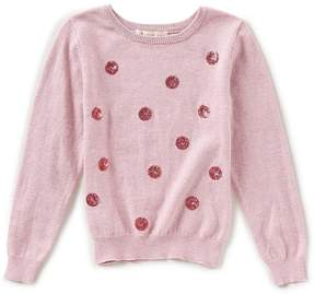 Copper Key Little Girls 2T-6X Sequin Dot Sweater
