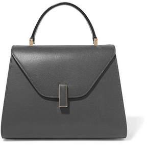 Valextra Iside Medium Textured-leather Shoulder Bag - Gray