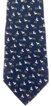 Salvatore Ferragamo Sheep Print Silk Tie