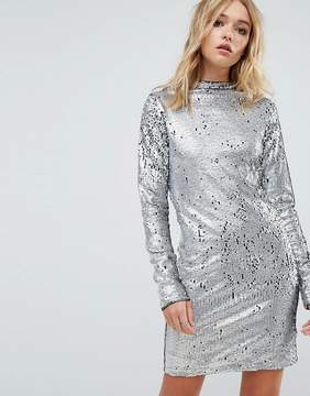 Cheap Monday Sequin High Neck Dress