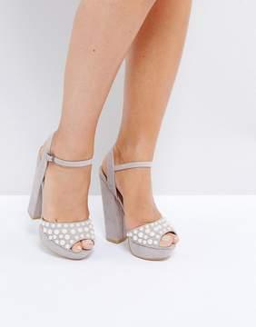 Public Desire Utah Pearl Platform Heeled Sandals