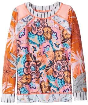 Maaji Kids Peaches and Beaches Rashguard Girl's Swimwear