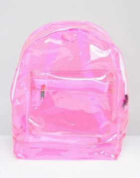 Mi-Pac Transparent Classic Backpack in Pink